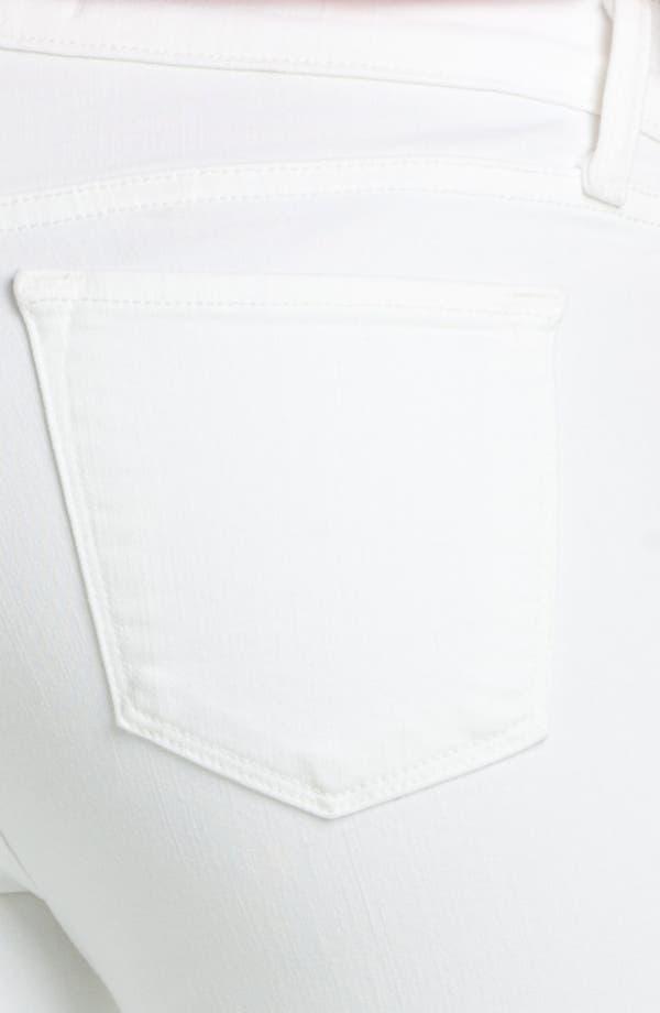 Destroyed Skinny Jeans,                             Alternate thumbnail 3, color,                             Blanc Destruct