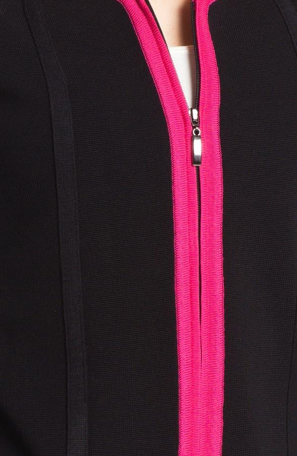 Alternate Image 3  - Misook 'Brooke' Sweater Jacket (Petite) (Online Only)