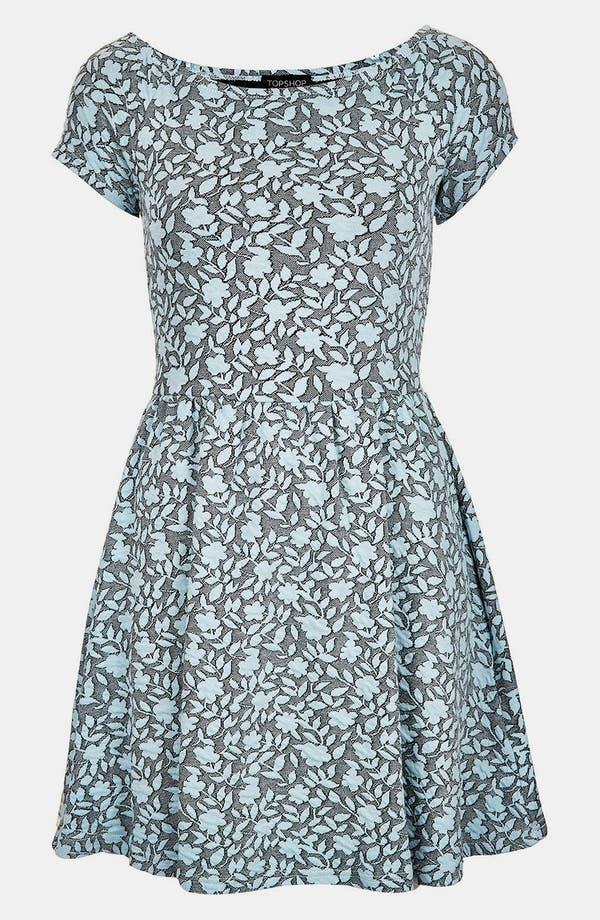 Alternate Image 2  - Topshop Floral Jacquard Dress
