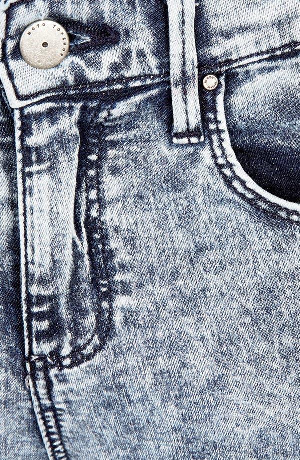 Alternate Image 3  - Topshop Moto 'Leigh' Acid Wash Skinny Jeans (Short)