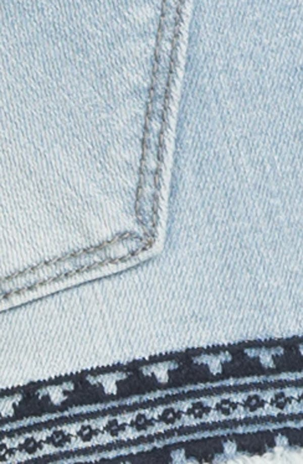 Alternate Image 3  - Vigoss Aztec Embroidered Cutoff Shorts (Juniors)