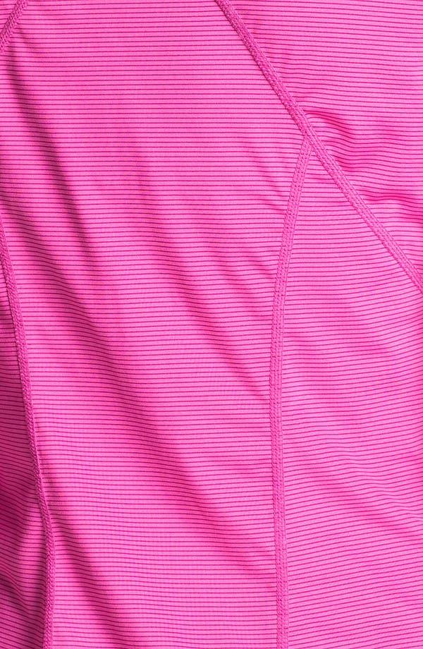 Alternate Image 3  - Zella 'Ruched Runner' Stripe Half Zip Running Top