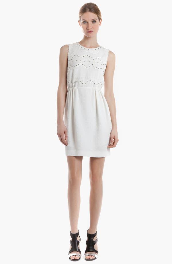 Main Image - sandro 'Radicale' Studded Lace Sheath Dress
