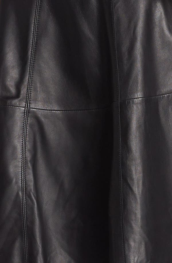 Alternate Image 3  - Halogen® Back Zip Leather & Ponte Dress