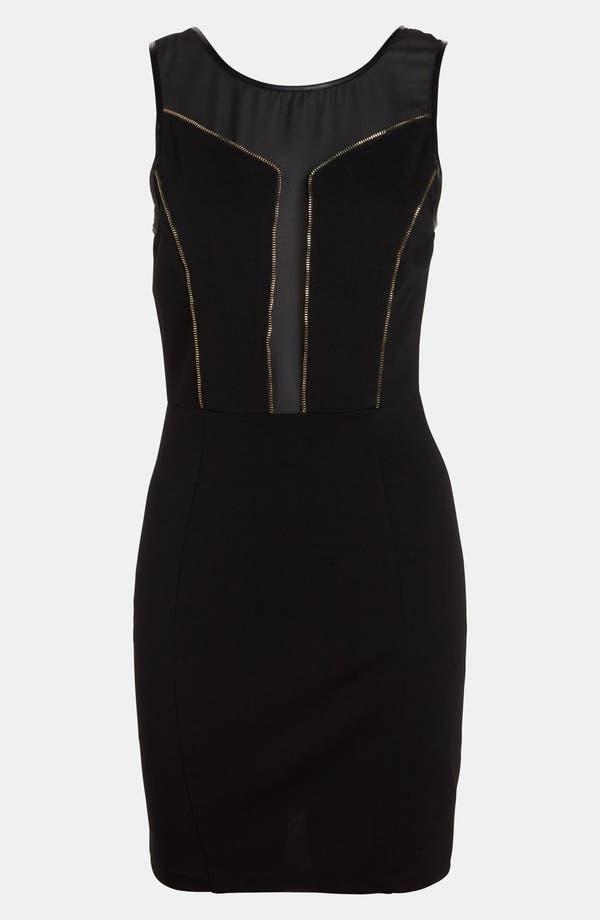 Alternate Image 1 Selected - ASTR Zip Trim Body-Con Dress