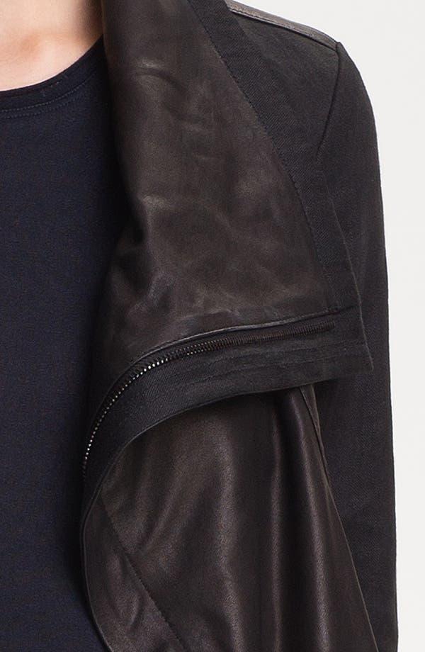Alternate Image 3  - Vince Linen Blend & Leather Jacket