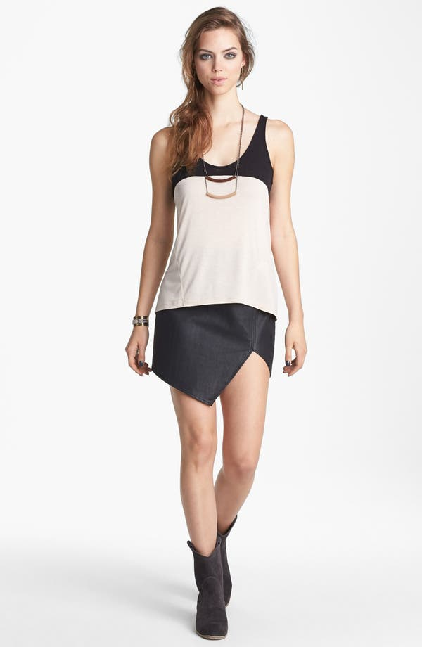 Main Image - ASTR Asymmetrical Faux Leather Skirt