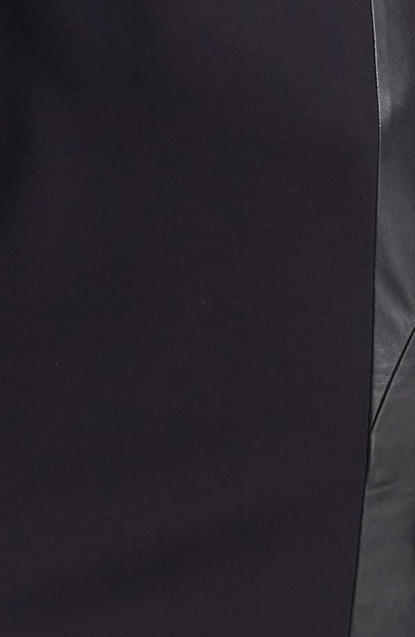 Alternate Image 3  - Classiques Entier® Ponte & Leather Dress
