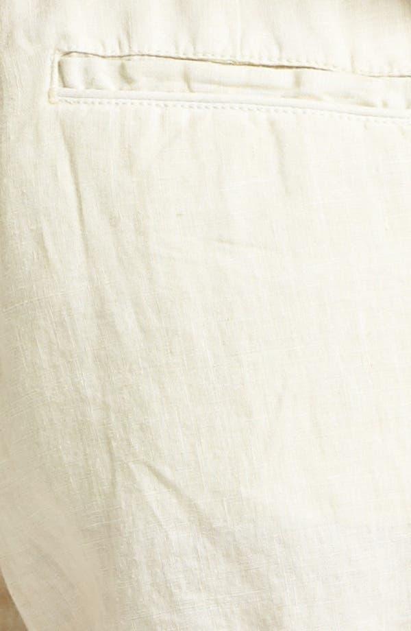 'Jewell' Linen Shorts,                             Alternate thumbnail 3, color,                             Sand