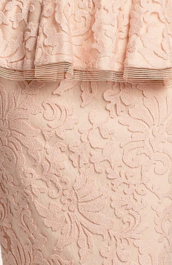 Alternate Image 3  - Tadashi Shoji Sleeveless Lace Peplum Gown