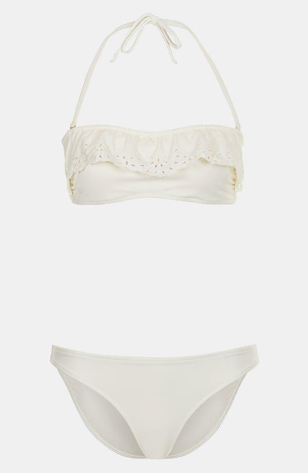 Alternate Image 1 Selected - Topshop Eyelet Trim Bandeau Bikini