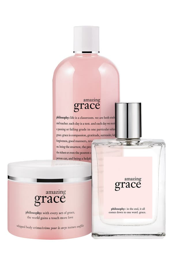 Alternate Image 1 Selected - philosophy 'amazing grace' layering set ($81 Value)