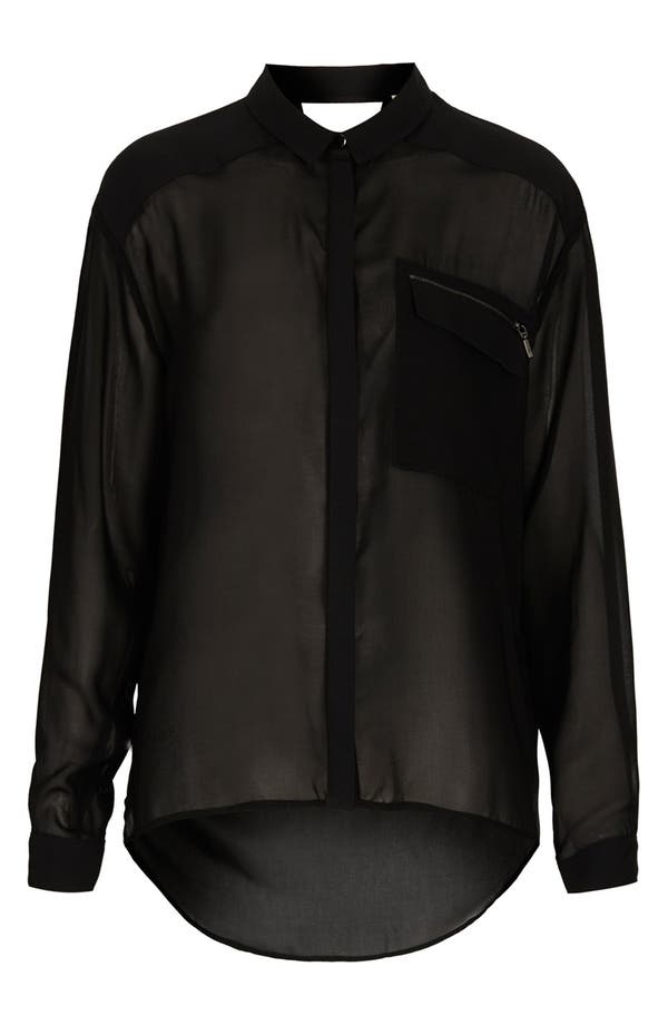 Alternate Image 1 Selected - Topshop 'The Collection Starring Kate Bosworth' Chiffon Shirt