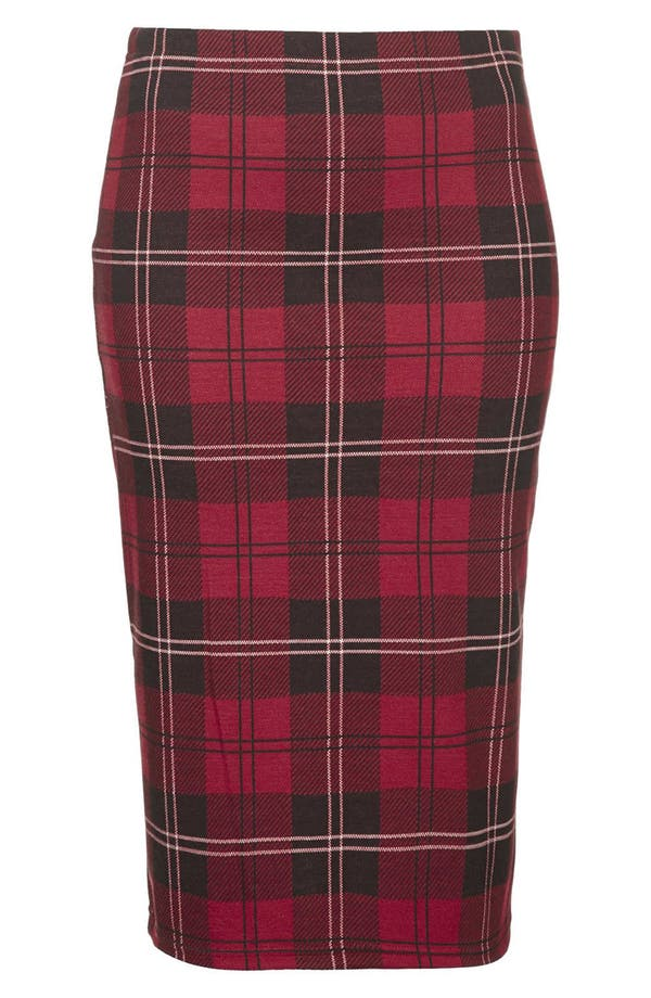 Alternate Image 3  - Topshop Plaid Tube Skirt (Regular & Petite)
