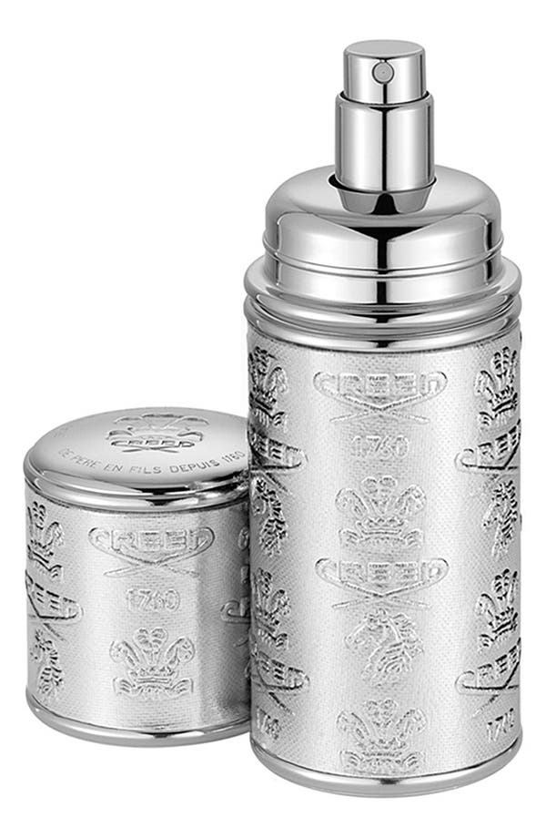 Silver Leather Atomizer,                         Main,                         color, No Color