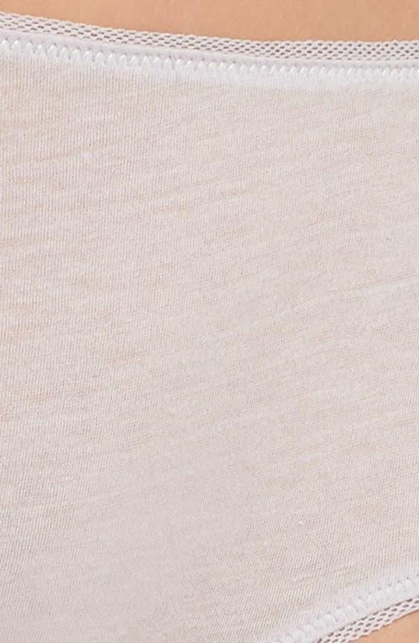 Alternate Image 6  - skin Organic Pima Cotton Hipster Briefs