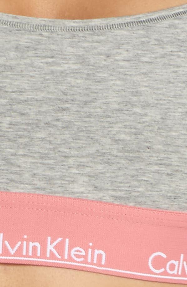 Modern Cotton Bralette,                             Alternate thumbnail 8, color,                             Grey Heather Sensation