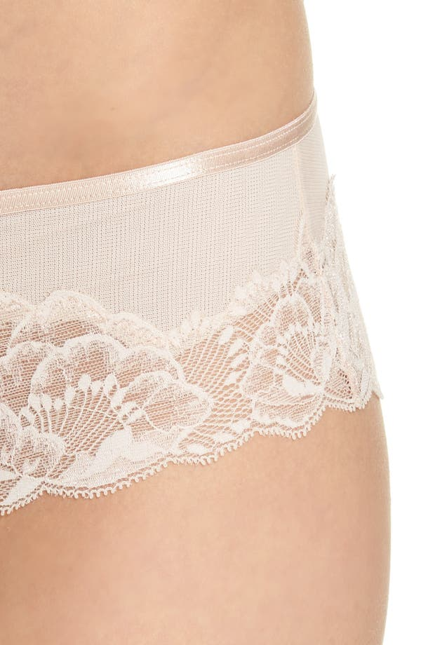 Orangerie Hipster Panties,                             Alternate thumbnail 8, color,                             Skin Rose
