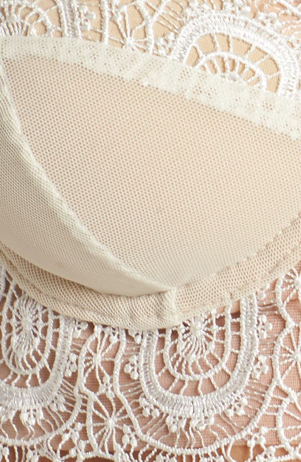 Thistle & Spire Willow Underwire Convertible Bustier Bra,                             Alternate thumbnail 9, color,                             Ivory