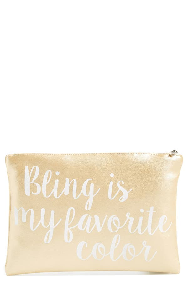 Alternate Image 1 Selected - Levtex 'Bling is My Favorite Color' Pouch