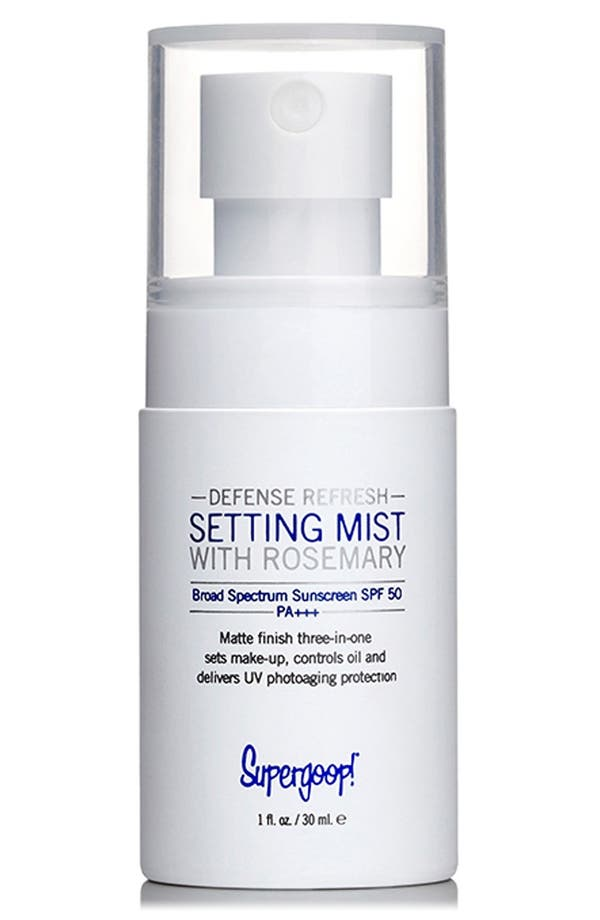 Supergoop! 'Defense Refresh' Setting Mist with Rosemary SPF 50,                             Alternate thumbnail 2, color,                             No Color