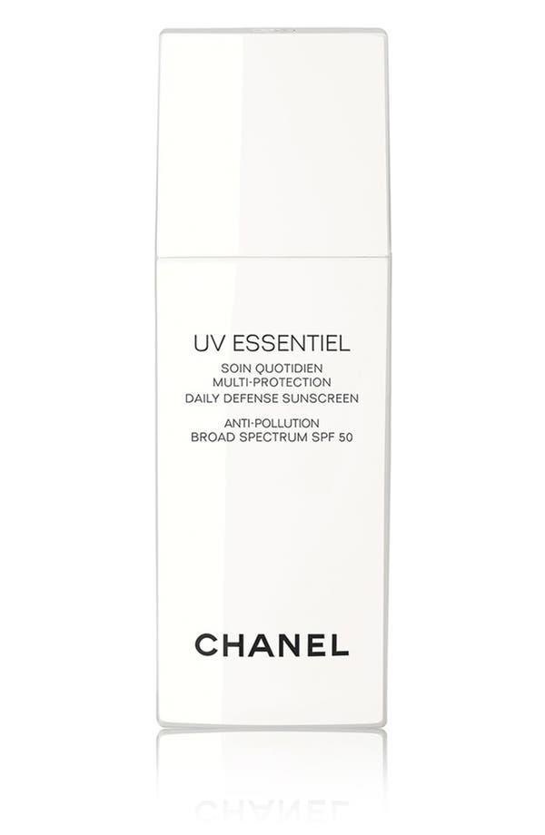 UV ESSENTIEL<br />Multi-Protection Daily Defense Sunscreen Anti-Pollution Broad Spectrum SPF 50,                         Main,                         color, No Color