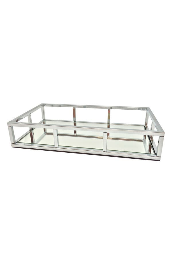 Alternate Image 1 Selected - Danielle Creations Chrome Mirror Tray (Nordstrom Exclusive)
