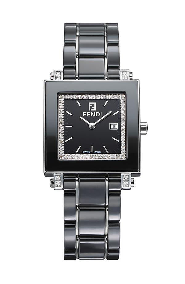 Alternate Image 1 Selected - Fendi Ceramic Diamond Watch