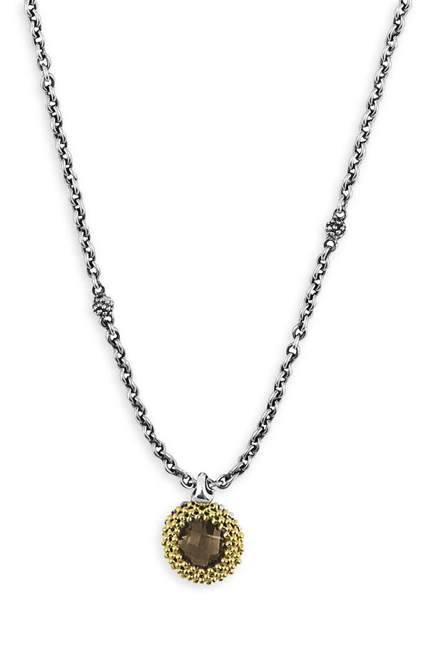 'Passion' Semiprecious Pendant Necklace,                         Main,                         color, Smokey Topaz