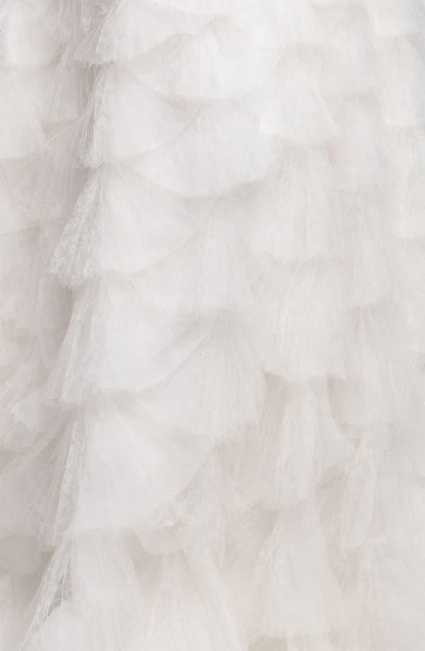 Alternate Image 5  - Tadashi Shoji Tiered Tulle & Organza Gown
