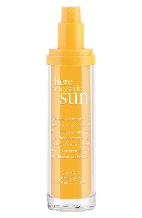 Alternate Image 1 Selected - philosophy 'here comes the sun' gradual glow self tanner for face
