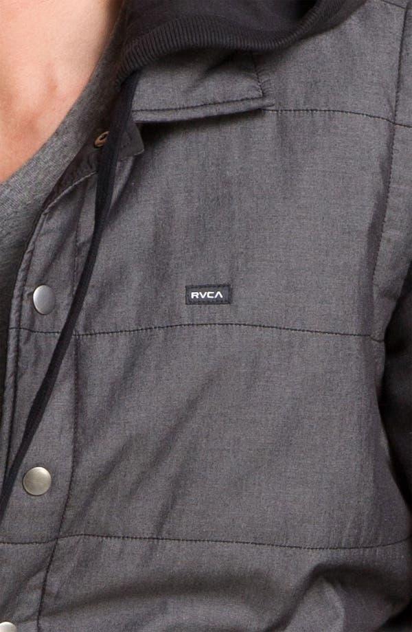 Alternate Image 3  - RVCA Puffer Vest Hooded Jacket
