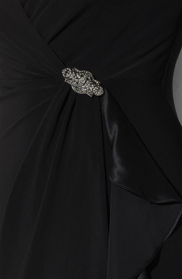 Alternate Image 3  - Lauren Ralph Lauren Ruffle Matte Jersey Sheath Dress (Plus)