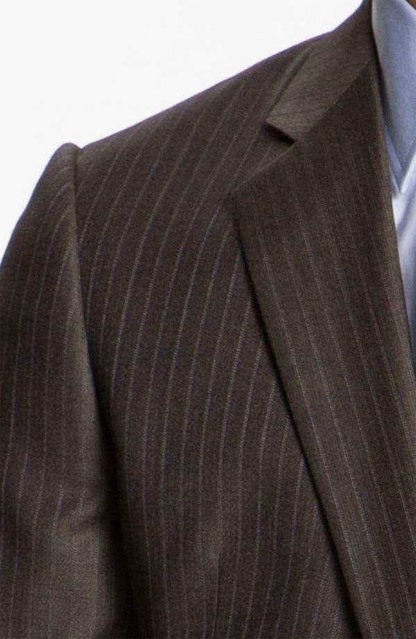 Alternate Image 6  - Armani Collezioni Stripe Wool Suit