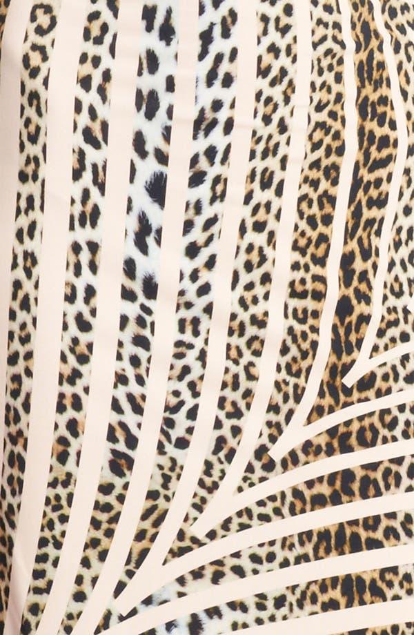 Alternate Image 3  - Blumarine Animal Stripe Cowl Neck Dress