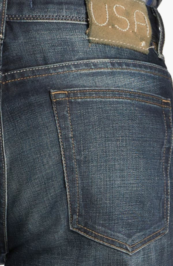 Alternate Image 4  - John Varvatos 'Bowery' Slim Straight Leg Jeans (Dark Indigo)