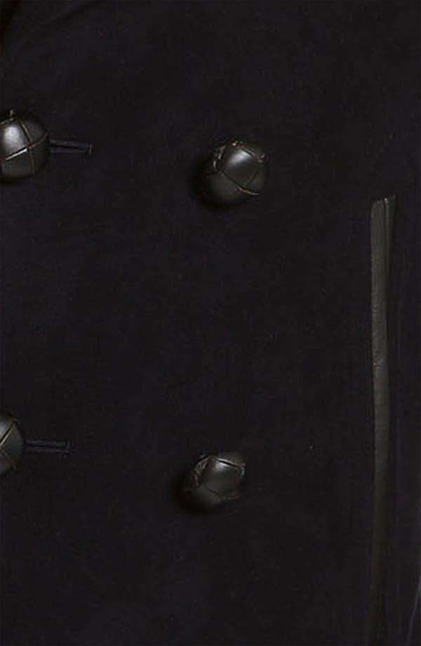 Alternate Image 3  - Burberry London Trim Fit Moleskin Coat