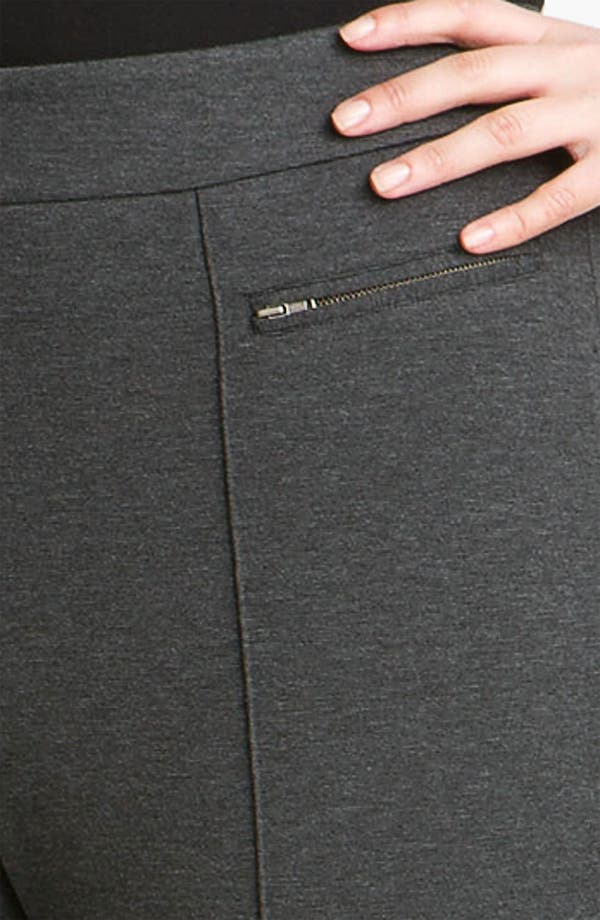 Alternate Image 3  - Sejour Double Zip Pocket Ponte Pants (Plus)