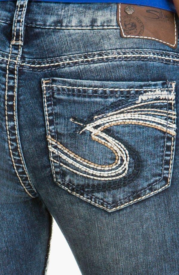 Alternate Image 3  - Silver Jeans Co. 'Berkeley' Straight Leg Jeans (Juniors)