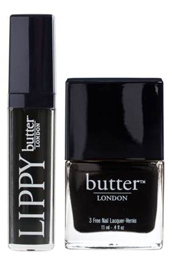 Alternate Image 1 Selected - butter LONDON 'Fashions Night Out - Union Jack Black' Lips & Tips Duo ($31 Value)