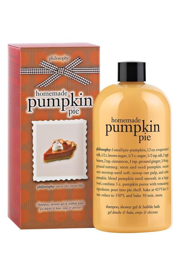 Main Image - philosophy 'homemade pumpkin pie' shampoo, shower gel & bubble bath