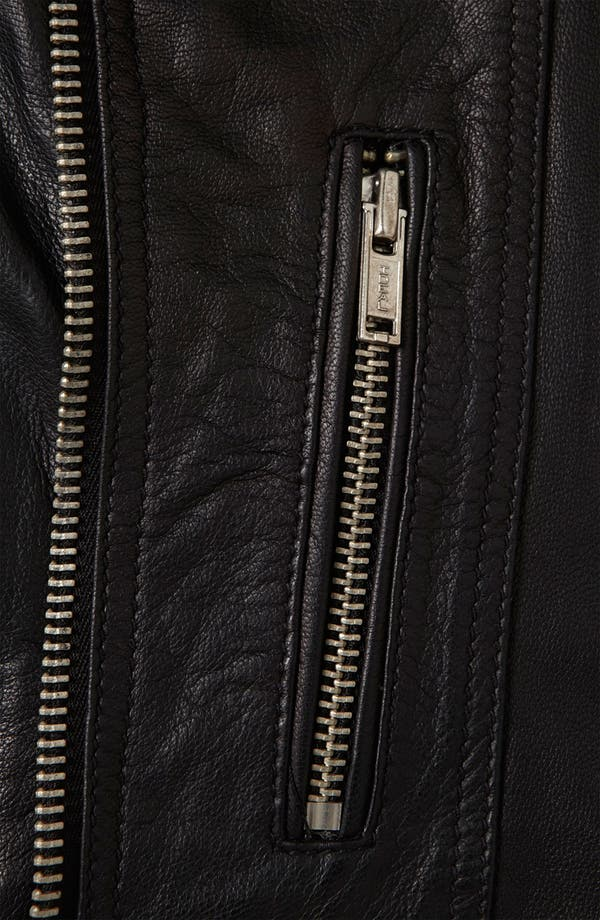 Alternate Image 3  - Topshop 'Peace' Studded Leather Jacket