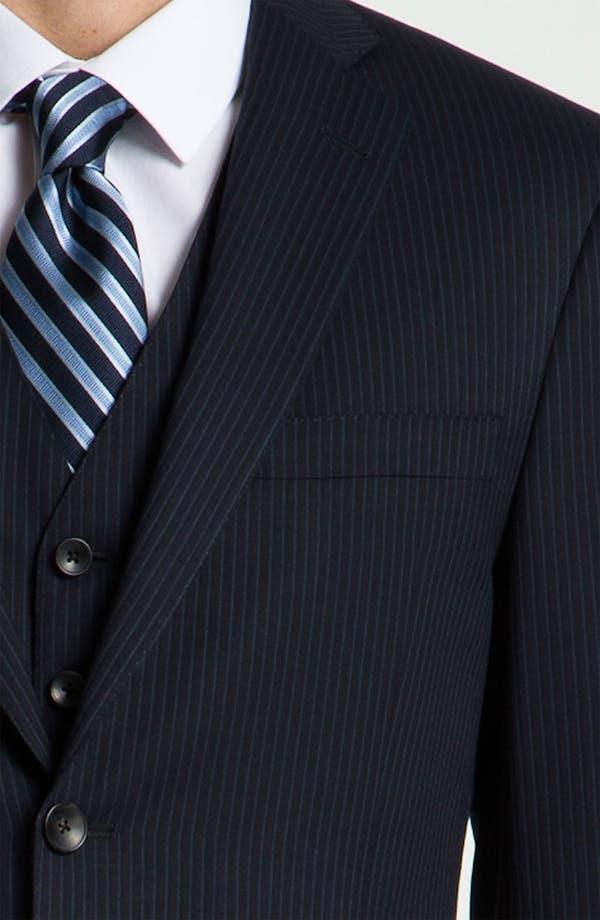 Alternate Image 6  - Hart Schaffner Marx Stripe Three Piece Wool Suit
