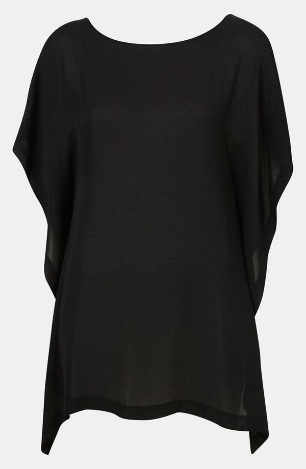 Main Image - Topshop Sheer Waterfall Crop Top