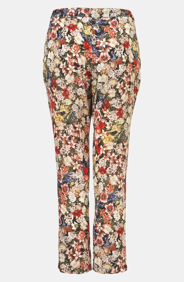 Alternate Image 2  - Topshop Floral Print Crop Cigarette Pants