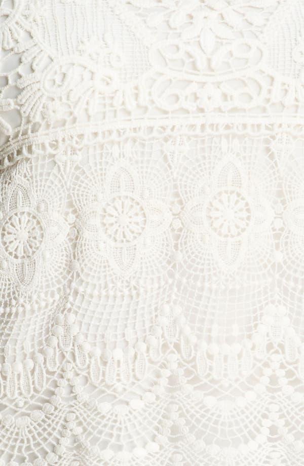 Alternate Image 3  - Kische Chiffon & Crochet Top (Plus)