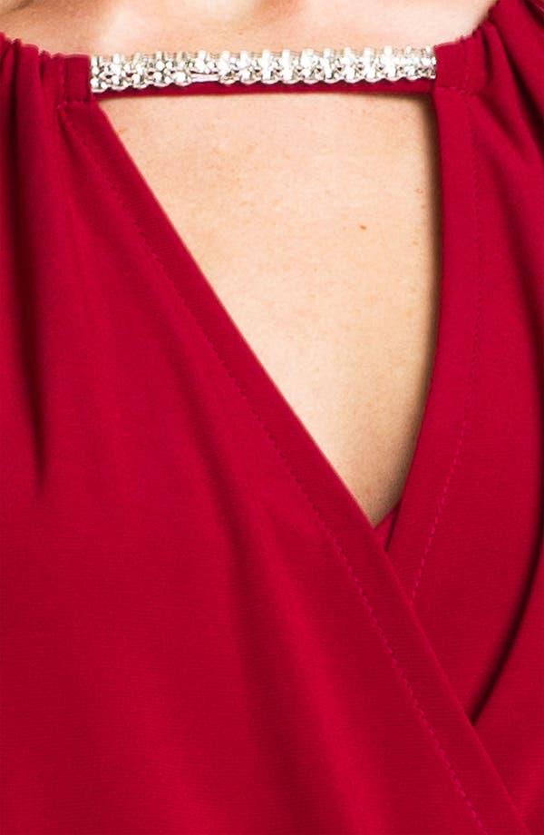 Alternate Image 3  - Betsy & Adam Embellished Keyhole Surplice Jersey Dress