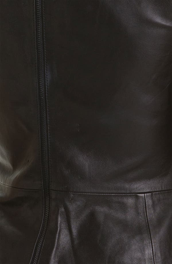 Alternate Image 3  - Trina Turk 'Tatyana' Leather Peplum Top