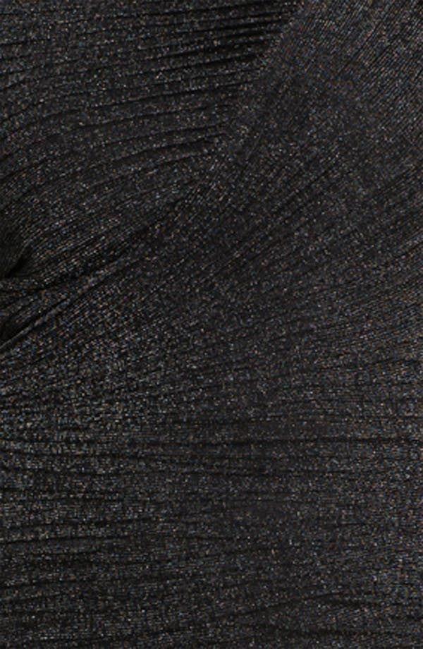 Alternate Image 3  - Tadashi Shoji Ruched Metallic Gown (Plus Size)