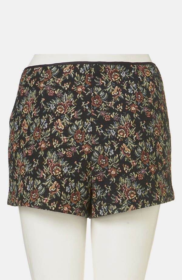 Alternate Image 2  - Topshop Tapestry Print Shorts